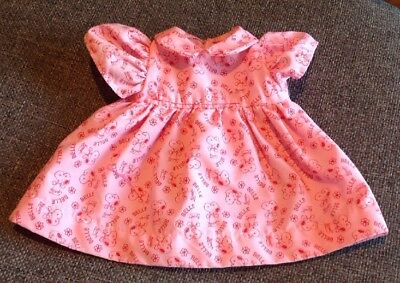 1958 Determined Production Peanuts Snoopy Girlfriend Belle Doll Pink Dress EUC