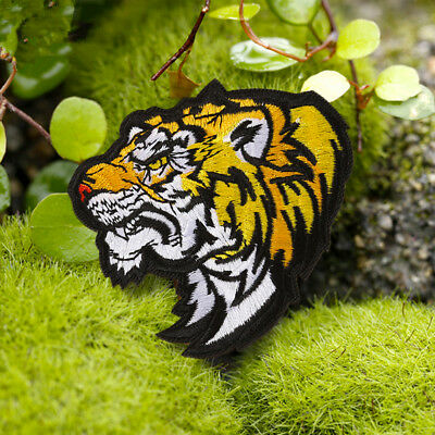 Tiger Animal Embroidered Patch Iron On Sew On Badge Dress Fabric Applique Craft