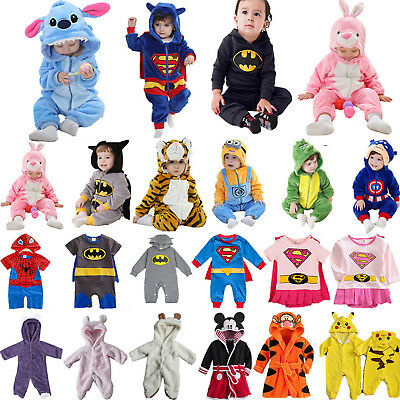 Baby Kinder Kapuze Strampler Overall Jumpsuit Rompers Kigurumi Body Outfit Set