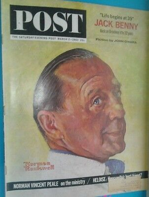"""saturday Evening Post  2 Mar 1963..norman Rockwell..vintage  Iconic News   Mag"