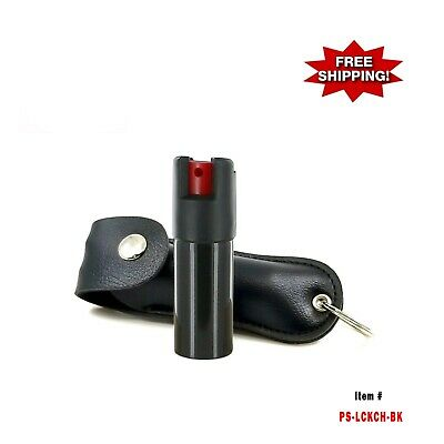 BLACK - Police Magnum  .50oz Case Key Chain Pepper Spray