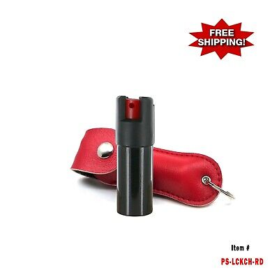 RED Police Magnum .50oz with Case Key Chain Pepper Spray