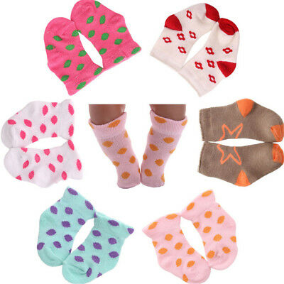 1 Pair Doll Socks For 43cm Baby Born Zapf 18 Inch  Dolls Clothing *