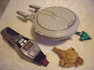 Star Trek Micro Machines Playmates 1995 Phaser Enterprise +Mini Figuren Raumschi