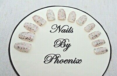 hand painted full cover nude rainbow coffin shaped false nails,choice of sizes