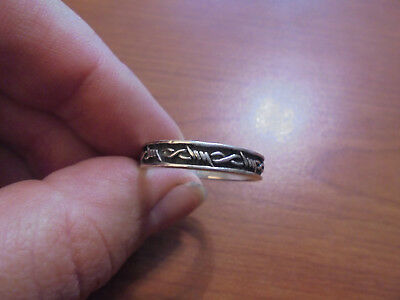 Vtg sterling silver barbed wire band ring size 10.25 3.4 grams