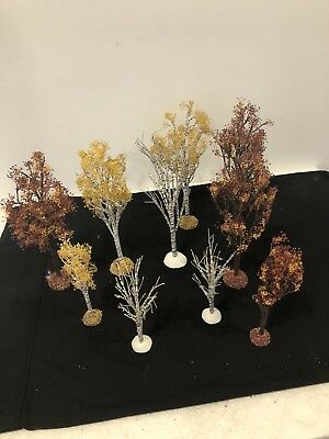 Dept 56 Village 'Autumn Fall Trees' Used 10 Lot