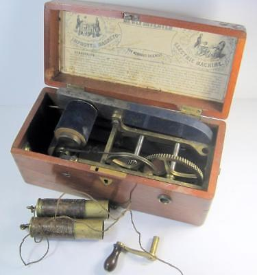 ANTIQUE MAGNETO-ELECTRIC SHOCK MACHINE FOR NERVOUS DISEASES Complete & Working?