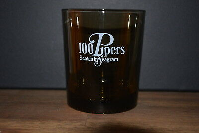 3 X 100 Pipers Scotch By Seagram Whisky Tumbler Scotch Gläser Glas Neu #c0398