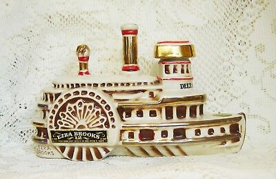 DELTA BELLE RIVERBOAT Paddle Steam EZRA BROOKS 1969 DECANTER BOTTLE