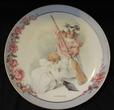 """1992 """"Cleaning House"""" Maude Humphrey Bogart Victorian Playtime plate collection"""
