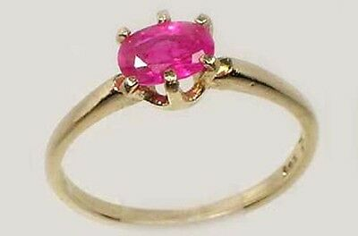 Gold Ruby Ring 2/3ct Antique 19thC Ancient Roman Greek War God Mars Ares Gem 14k
