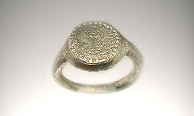 Roman Silver Ring Provincial Moesia Bulgaria Genuine Ancient AD200 Engraved Sz5
