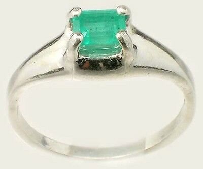 19thC Antique ½ct+ Siberian Emerald Medieval Chastity Honesty Intelligence Ring