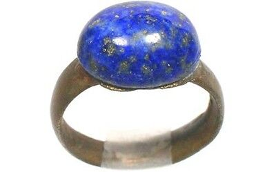 AD200 Roman Noricum (Austria) Child's Ring + Antique 19thC 3½ct Lapis Lazuli Gem