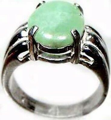 19thC Antique 3¾ct Jade Sterling Medieval Portuguese Loin Stone Kidney Back Pain