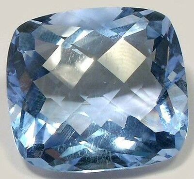 Huge Handcrafted 32ct Topaz Gemstone Checkerboard Dispels Medieval Enchantments