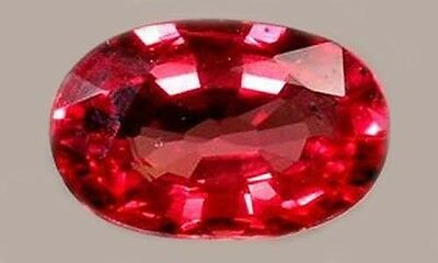 19thC Antique ½ct Red Sapphire Miraculous Gem St. Edward Confessor British Crown
