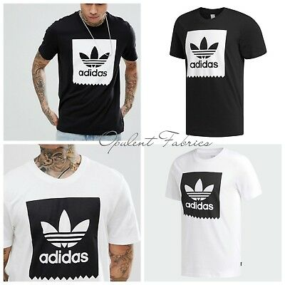 Adidas Originals Men's BLACKBIRD Solid Tee Trefoil Retro T Shirt S M L XL