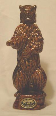 BROWN BEAR GRIZZLY BEAR BY EZRA BROOKS 1968  WHISKEY Decanter Bottle