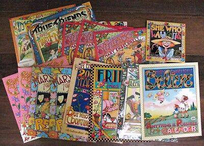 MARY ENGELBREIT lot of 15 WALL CALENDARS 1993-2004~UNUSED~UNMARKED ~AUTOGRAPHED!