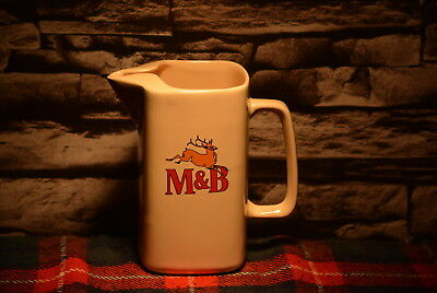 M&b Scotch Whisky Water Jug Wasser Krug #c0138