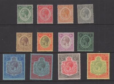 Nyasaland 1921-30 Partial KGV Set - OG MH - SC# 25-36   Cats $194.50
