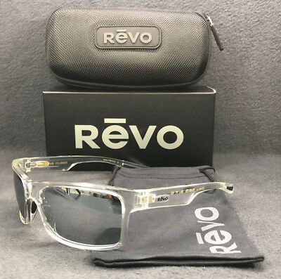 1a5ca7356a REVO CRAWLER RE 1027 09 ST Clear Crystal   Graphite Mirror Polarized  Sunglasses