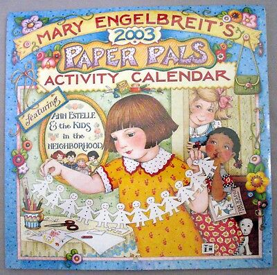 MARY ENGELBREIT Paper Pals Activity Calendar 2003 ~ PAPER DOLLS ~ SEALED, MINT
