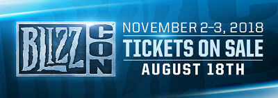 Blizzcon 2018 Ticket (Includes Virtual Ticket and Goodie Bag)