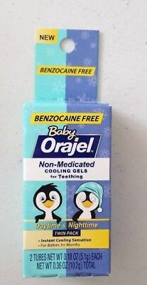 Baby Orajel Benzocaine Free For Teething Daytime & Nighttime Twin Pack 11/2019
