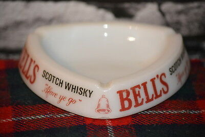 Bell`s Afore Ye Go Scotch Whisky Ashtray Aschenbecher Keramik Glas #c0249