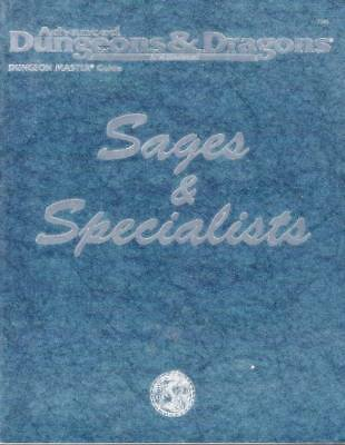 AD&D Sages & Specialists - Book = NEU & Original