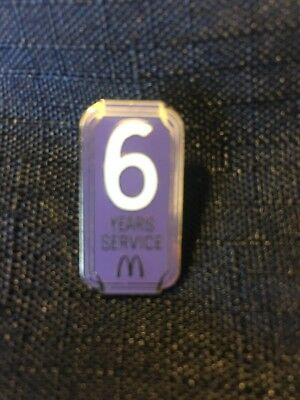 McDonalds Employee 6 Years of Service Lapel Tac Pin