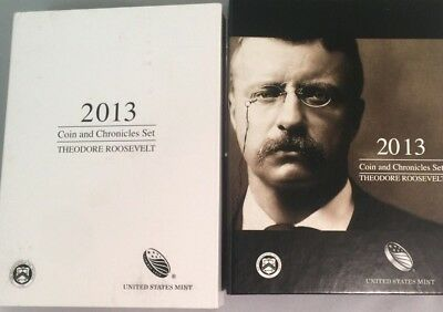 2013 Theodore Roosevelt Coin and Chronicles Set in OGP Exclusive Silver Medal