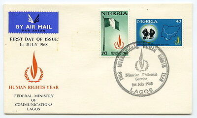 FDC - LAGOS - NIGERIA - Human Rights Year - 1968.