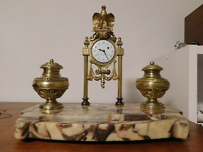 Antique French Table Esquivillon & Dechoudens Clock C1800. - Napoleonic Period