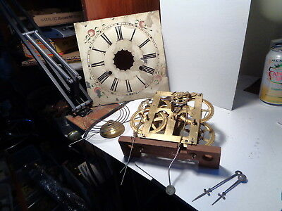 Antique-E.N.Welch-OG-Weight Clock Movement/Parts-Ca.1870-To Restore-#P501