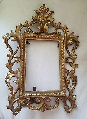 Antique Victorian Gilded Brass Picture Frame.