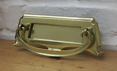 Vintage BRASS Letter Box / Door Knocker (REFURBISHED)