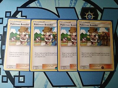 63//73 TRAINER 4X POKEMON SHINING LEGENDS CARD POKEMON BREEDER
