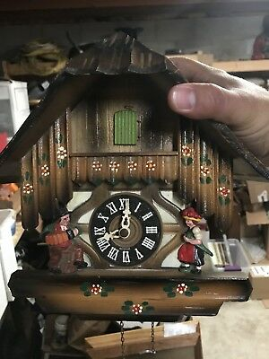 Vintage German Cuckoo Clock Runs But Needs Adjustments