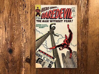 Daredevil #8 MARVEL 1965 ORIGIN & 1st app Stilt-Man Stan Lee COMBINE SHIPPING !
