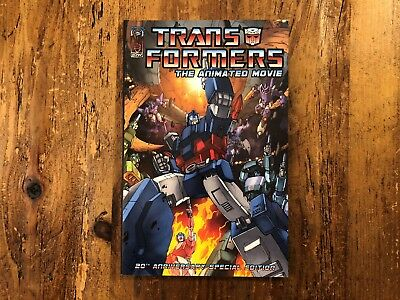 IDW Transformers The Animated Movie 20th Anniver Edition Graphic Novel TPB 2007*