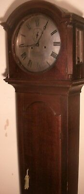 "ANTIQUE OAK  "" LEICESTER ""  8 DAY   GRANDFATHER / LONGCASE CLOCK 79"" high."