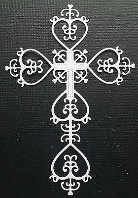 CHOICE OF COLOUR - 4 x Ornate Cross - SYMPATHY - EASTER - CHRISTMAS - Die Cuts