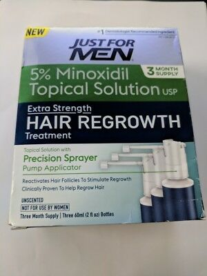 Just For Men Extra Strength Hair Loss Regrowth, 5% Minoxidil - 3 Months Supply