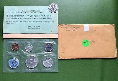 1962 Proof Set Mailer All There 90% Silver Franklin Washington US Mint Very Nice