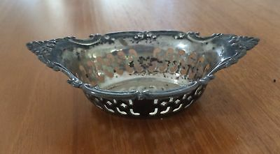 Gorham Sterling Silver Small Pierced Nut Dish 4780 Cromwell Pattern