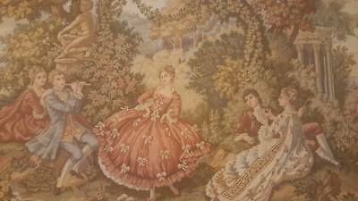 Beautiful Antique Aubusson Style French Framed Tapestry